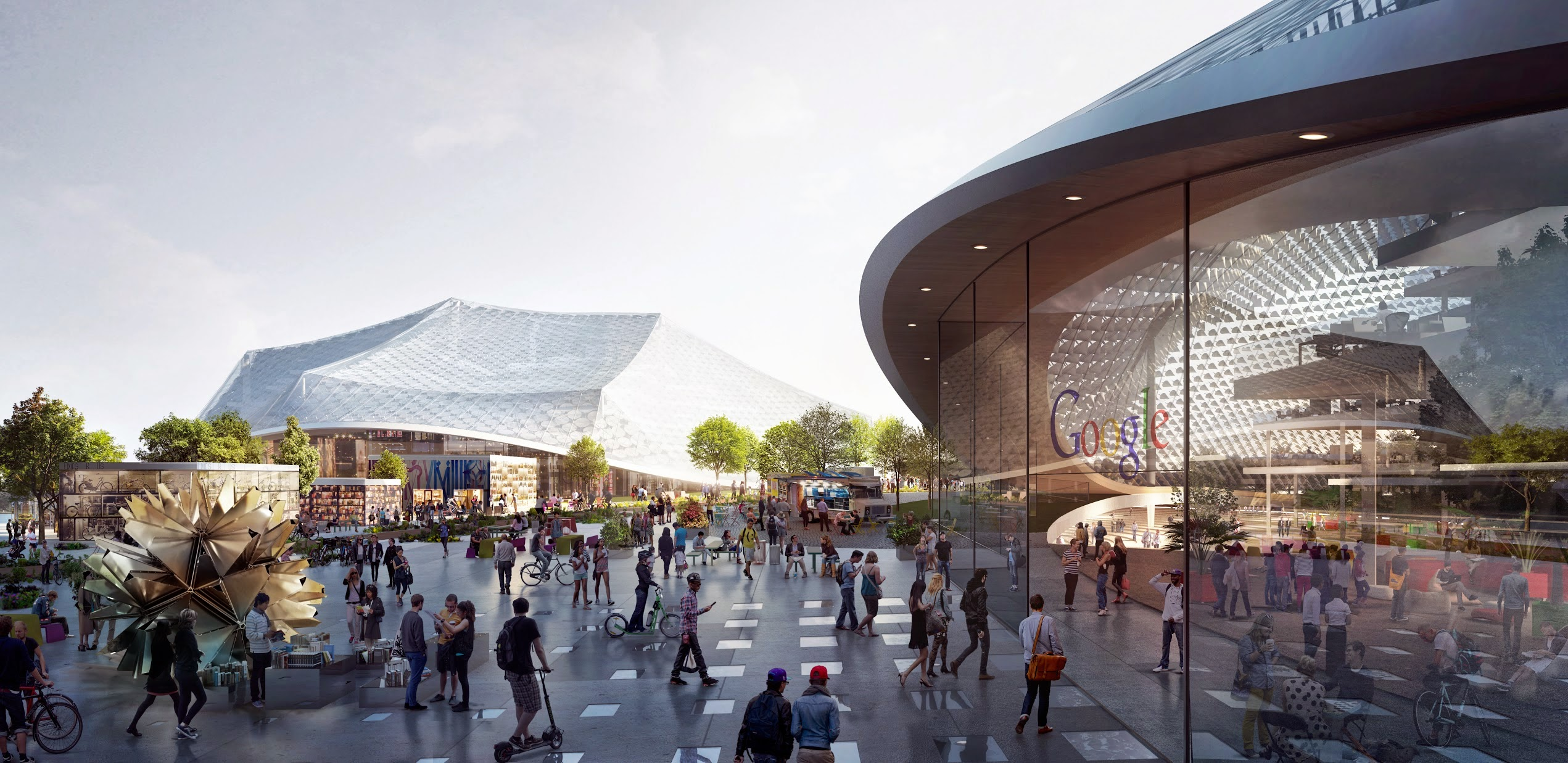 Google's new Global HQ design, Silicon valley