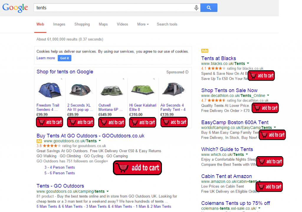 Google buy now example