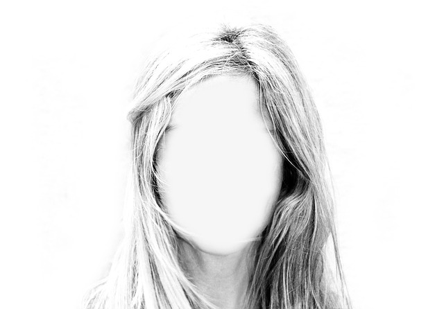 Picture of faceless person