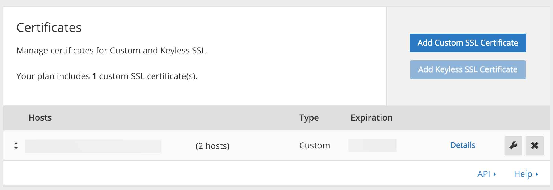 Custom certificate on CloudFlare