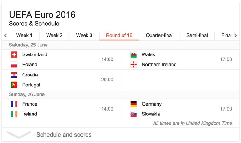 euro 2016 fixtures