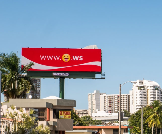 Coca-Cola used emoji domains in a South American billboard campaign during 2015 to create 'brand emotion'