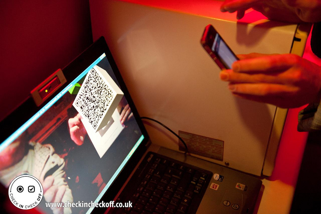 A fun tech event in Leeds a few years ago: Check In Check Off, which SALT's Martin Woods helped organise. Photo by Rick Harrison.
