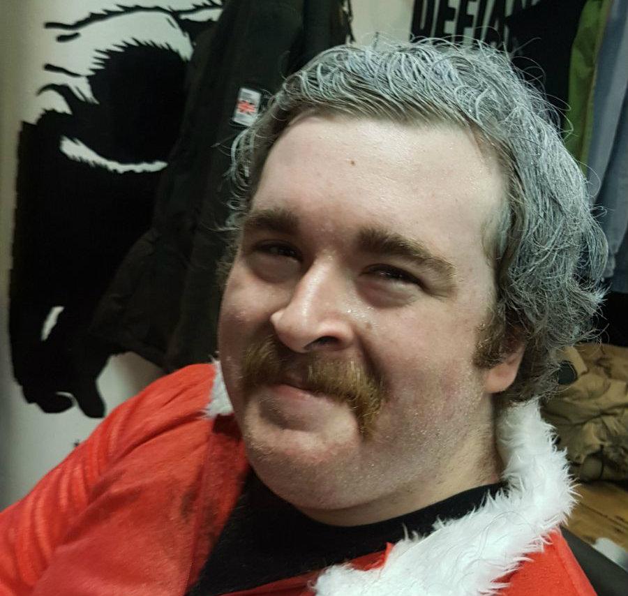 Shaving Santa fundraising