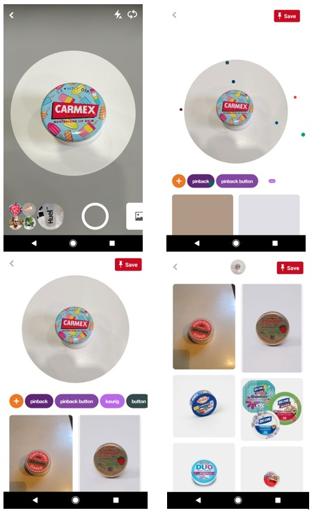 Pinterest visual search function