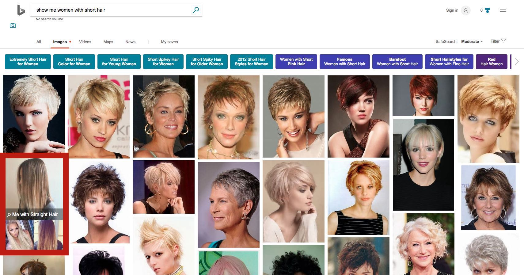 Bing images with short hair