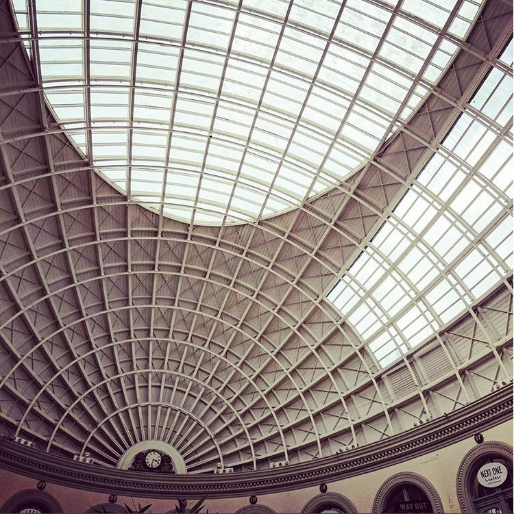 Leeds Corn Exchange roof.