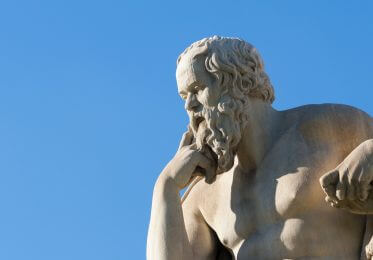 A picture of Socrates thinking about SEO in 2019.