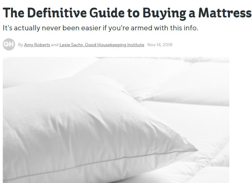 How to choose a mattress — evergreen content