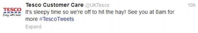 Tesco social media mistake
