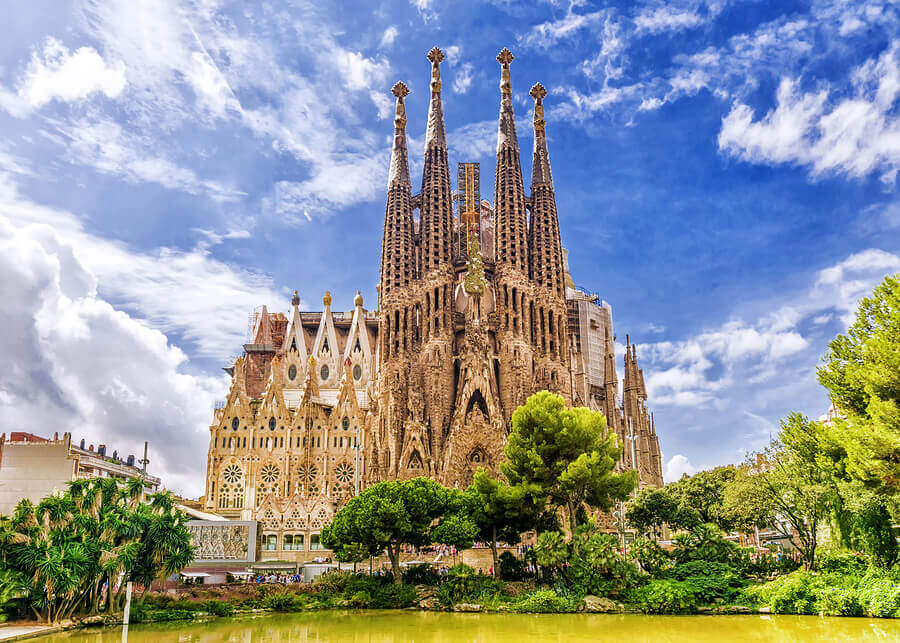 La Sagrada Familia cathedral in Barcelona by Gaudi