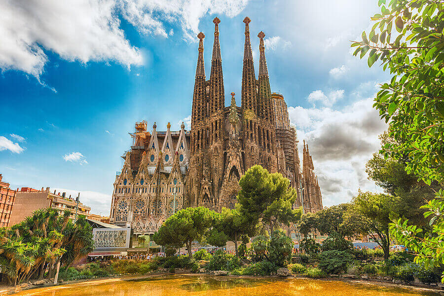 Barcelona cathedral, la Sagrada Familia, in Spain