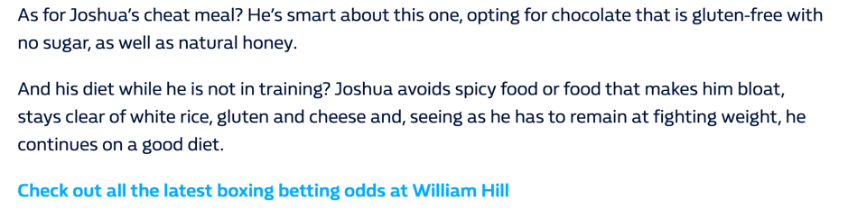 William hill CTA screenshot.