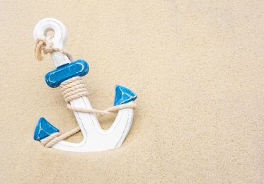 anchor in sand representing anchor text