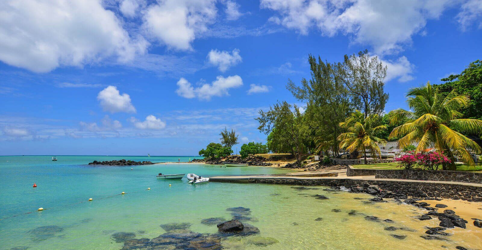 Seascape of Grand Baie, Mauritius.