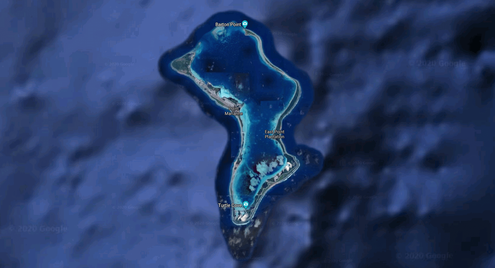 Google Maps Satellite View of Diego Garcia