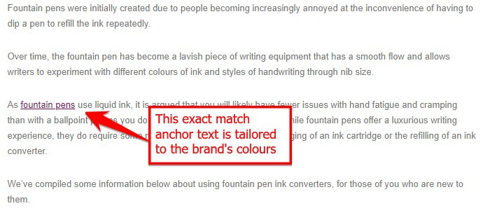 TPC anchor text example