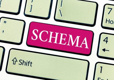Concept of website schema as a button on a keyboard.