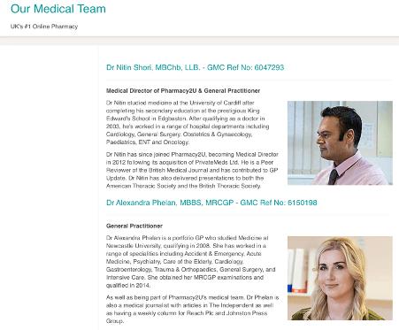chemistdirect.co.uk expertise page screenshot