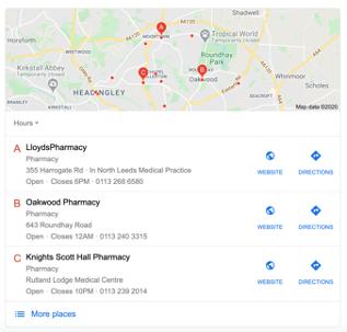 lloyds pharmacy map pack screenshot