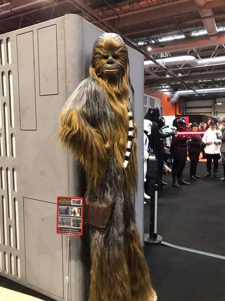 Stephen Robb in a Chewbacca costume for 501st UK Garrison