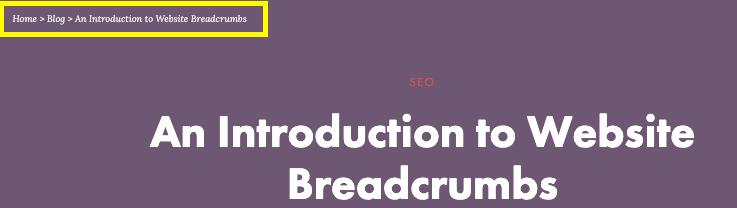 website breadcrumbs screenshot